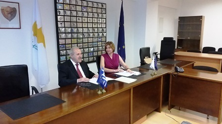 Meeting of the Commission for the Protection of Competition with the Chairman of the Hellenic Competition Authority, Mr. Kyritsakis on the signing of the Memorandum of Cooperation, October 30, 2014